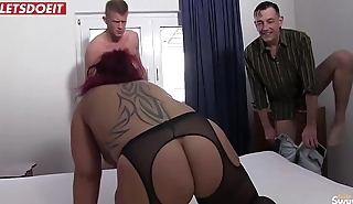 German amateur housewife gets shared thither a Stranger
