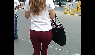 French Blondy student have provocative thug booty