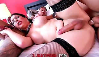 3-WayPorn - 2 Guys on a Tranny with Double Anal DAP
