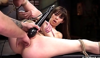 Slut gets fisted and anal banged