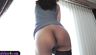 Amazing ass and hung Asian ladyboy blowjob and anal sex