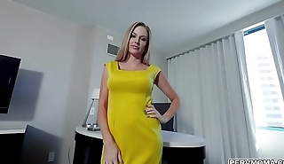 Sexy wife Jenna Jones is craving for some dick so she fucks with her naughty stepson and go crazy over his giant dick.