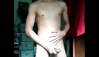 Jizz spewing from loaded twink
