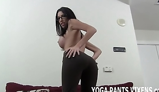 I love the way my new yoga pants make my ass look JOI