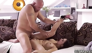 Young and old gang bang man playing with pussy Rough romp for