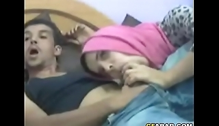 Arab Teen Sucks Big Cock