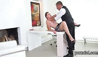 Fervent college girl is seduced and poked by elderly schoolteacher