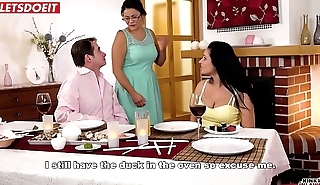 Hot Babe Fucked by Step Dad handy Family Dinner (Lucia Denvile)
