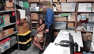 Arrogant mexican thief slut anal fucked by a LP officer