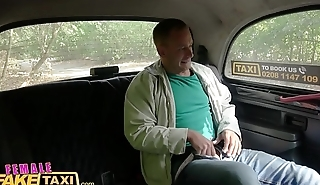 Female Fake Taxi Blonde beauty fucks her passenger