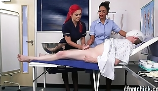Uniformed brit nurses shamble