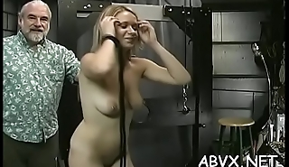 Wicked spanking and sex in dilettante bondage video