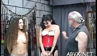 Rough spanking and harsh servitude on woman'_s pussy