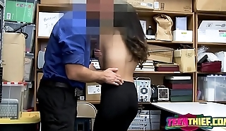 Emily regrets stealing while being banged by horny officers big cock