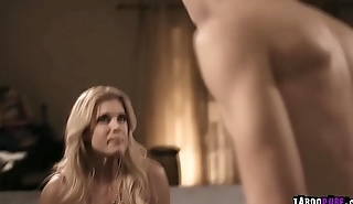 Horny stepson Dustin Daring caught her cheater stepmom so he wants to fucks her mature pussy.
